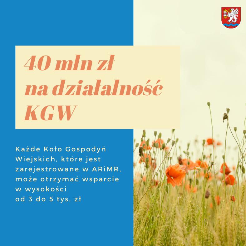 40 mln na działalność dla KGW